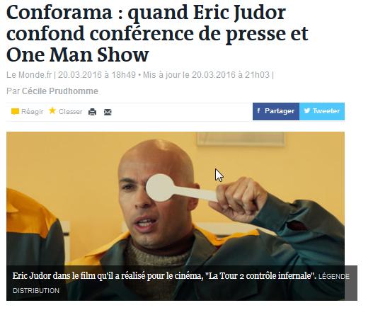 Conforama quand Eric Judor confond conférence de presse et One Man Show - Mozi_2016-03-21_16-04-34